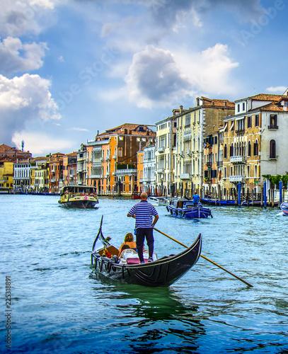 Spoed Foto op Canvas Gondolas уютные дворы в Венеции