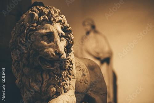 Fotografie, Obraz  Lion of Loggia dei Lanzi in Piazza della Signoria in Florence