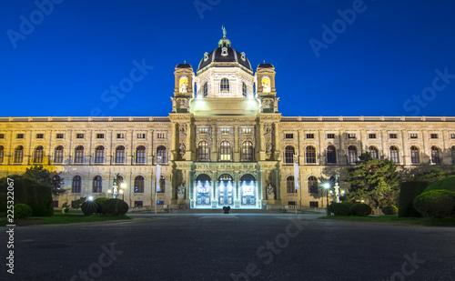 Natural History Museum (Naturhistorisches museum) on Maria Theresa square (Maria-Theresien-Platz) at night, Vienna, Austria