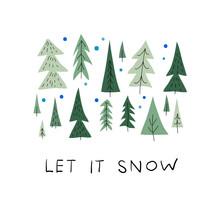 Let Snow Christmas Tree Winter...