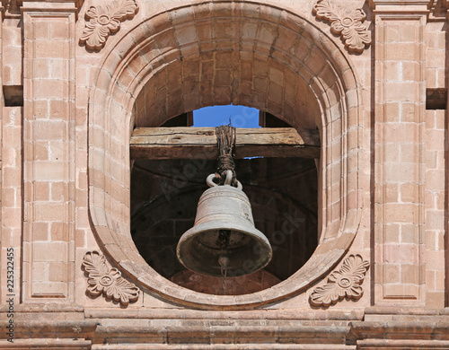 Fotografía  detail of bell tower of Church of the Society of Jesus, Cusco, Peru