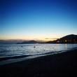 Coucher de soleil sur plage dans le sud de la France