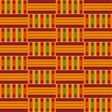 African Seamless Pattern. Cloth Kente. Tribal Print.