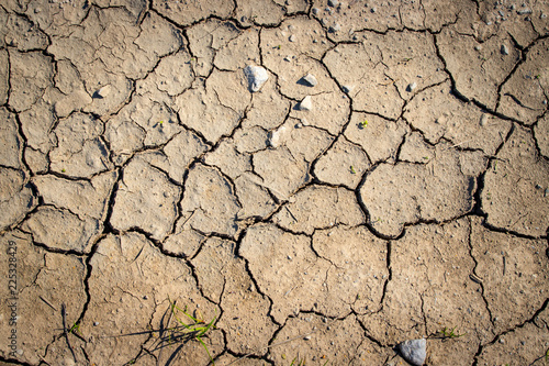 Obraz na plátně Vertrockneter, ausgelaugter Boden, Dürre / Desertifikation