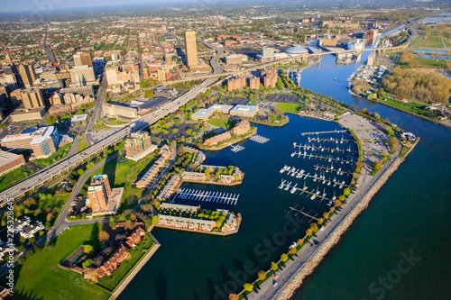 Photo sur Toile Buffalo Buffalo Inner Harbor