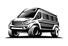 Min Bus Adventure Car Logo Template