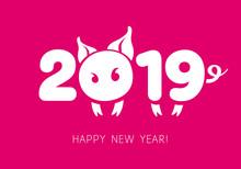 2019 Chinese New Year Symbol.