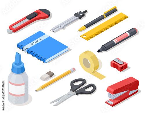 Fotografia Isometric office tools