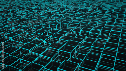Photo  a futuristic background image with cubes (3d rendering)