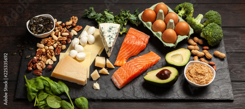 Keto diet food ingredients Tableau sur Toile