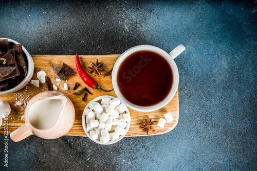 Foto op Aluminium Chocolade Hot chocolate cups