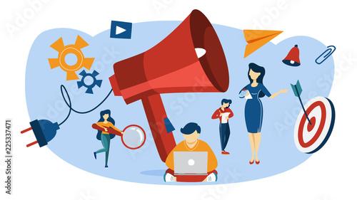 Fotografie, Obraz  Outbound marketing concept