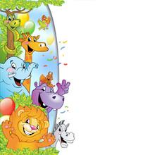 Cartoon Cheerful Animals, Holi...