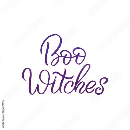 Fotografie, Obraz  Hand drawn lettering haloween card