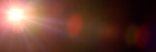 Golden Screen Lens Flare Effec...