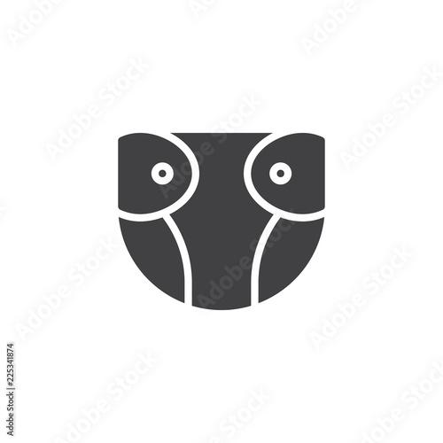 Baby Diaper vector icon Fototapet