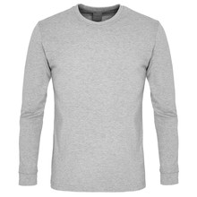 Gray  Long Sleeve T-shirt Isolated On White Background