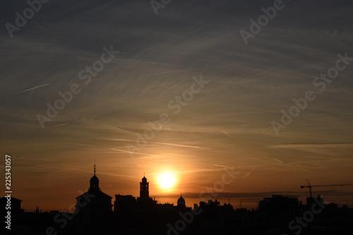 Poster Rome alba su milano