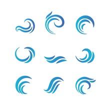 Wave Emblems. Ocean Water Abst...
