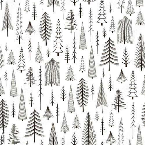 jednolite-wzor-recznie-rysowane-jodly