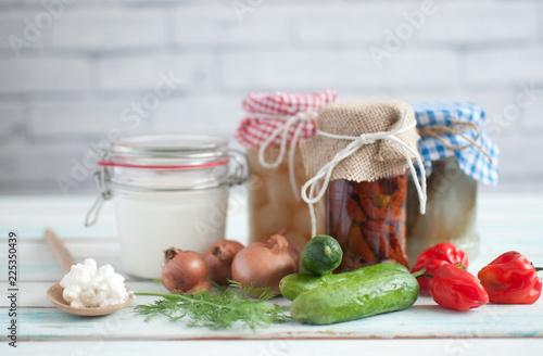Fotobehang Aromatische Prebiotic fermented foods