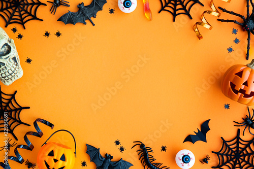 Halloween party border Canvas