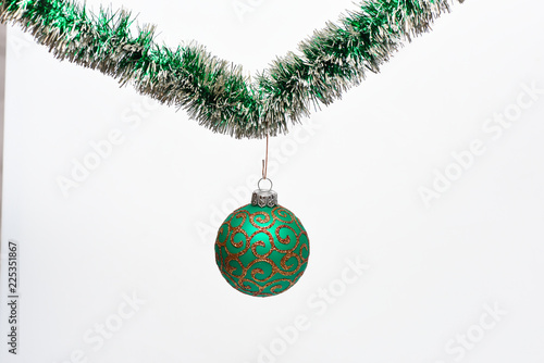 Roman Christmas Ornaments.Christmas Ornament Concept Ball With Glamorous Ornaments