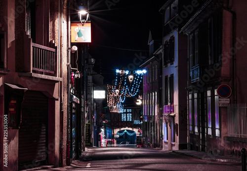 Fototapeta rue la nuit obraz na płótnie