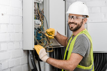 Smiling Handsome Electrician R...