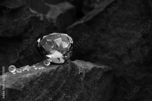 A Single Large Gem Stone on...
