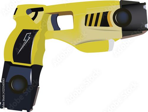 pistola elettrica in dotazione forze di polizia per autodifesa Canvas Print