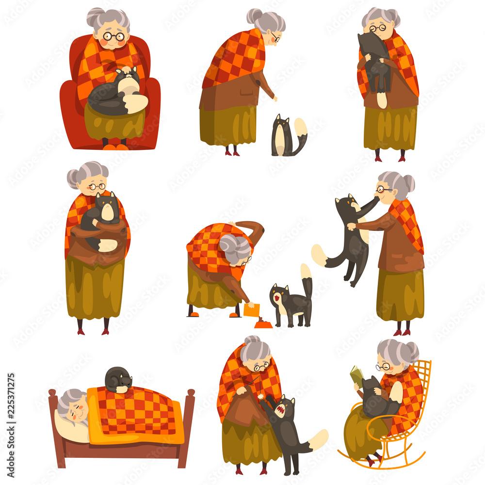 starý zrelé čierna mačička