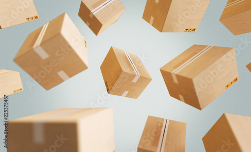 Obraz Cardboard boxes, illustration - fototapety do salonu
