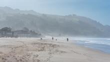 Beautiful Beach In California, Sunrise On The Pacific Coast