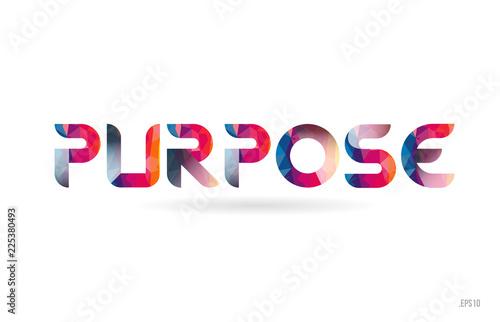 purpose colored rainbow word text suitable for logo design Fototapet