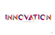 Innovation Colored Rainbow Word Text Suitable For Logo Design