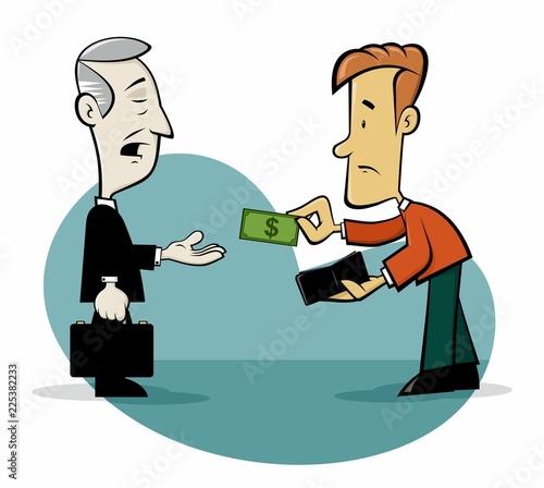 Fotografia Taxes collector cartoon