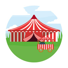 Circus Tent And Food Booth In ...