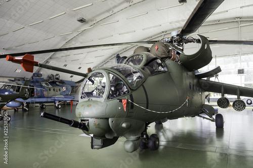 The Mil Mi-24 large helicopter gunship