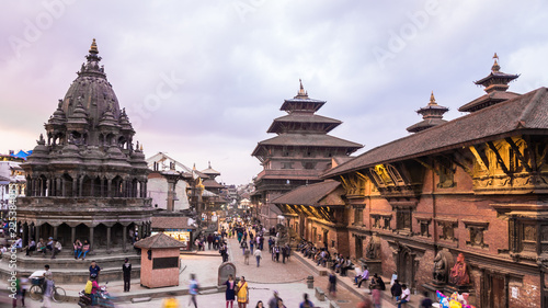 Fotografie, Obraz  Nepal temple patan