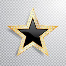 Gem Gold Black Star
