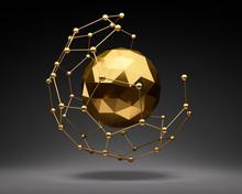 Nanoball Und Goldene Sphäre