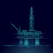 Ocean Oil Gas Drilling Rig Low...