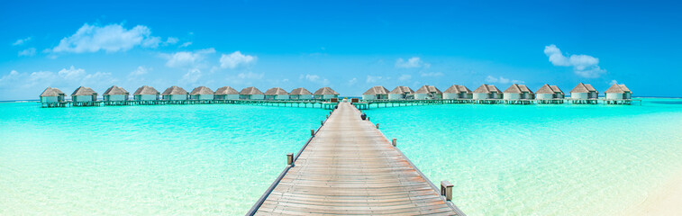 Overwater bungalow in the Indian Ocean