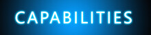 Capabilities - Glowing White T...