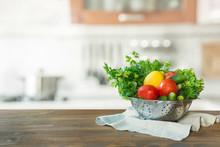 Modern Kitchen With Fresh Vege...