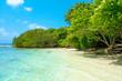 Beautiful sandy beach in uninhabited island