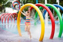 Kids At Aqua Park. Child In Sw...