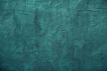 Turquoise Color Plastered Wall...