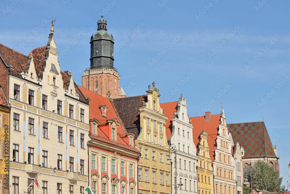 Fototapeta Rynek we Wrocławiu, Polska